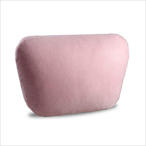 TZYKCN Bio Velvet autostoel hoofdsteun kussen auto nek stoel comfortabele bekleding kussen roze