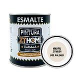 Pintura color Marfil Interior / Exterior / Multisuperfie para azulejos baño cocina , madera, puertas, metal, radiadores, muebles, ceramica / Esmalte sintentico en 375 ml / RAL 9001