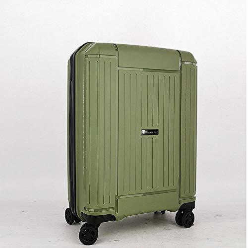 YANYINGDE TSA-Schloß Koffer Reisekoffer Trolley Kofferset,Zollschloss PP-Koffer, Hebel TSA-Schloss Universal-Radkasten @ Green_24 Zoll,Trolley-Koffer mit...