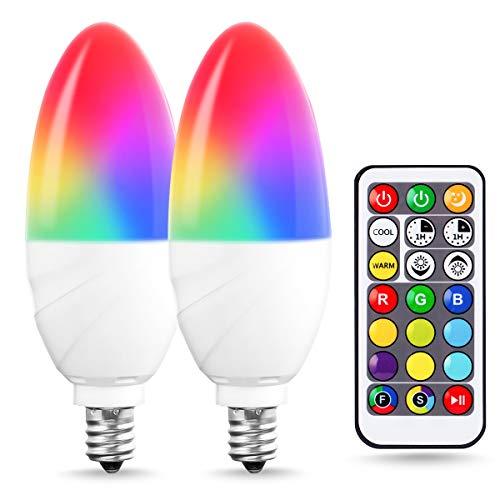 colored ceiling fan bulbs - 2