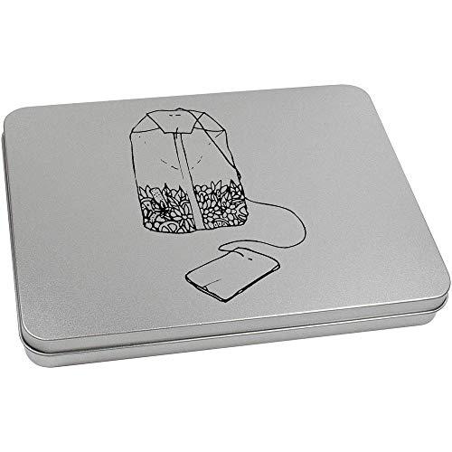 Azeeda 220mm x 160mm 'Teebeutel' Blechdose / Aufbewahrungsbox (TT00120071)