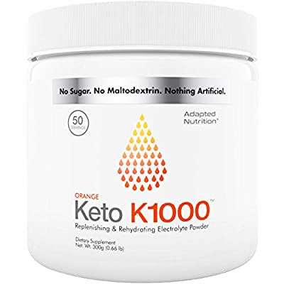 Keto K1000 Electrolyte Powder | Boost Energy & Beat Leg Cramps | No Maltodextrin or Sugar | by Hi-Lyte | 50 Servings from Livwell Products