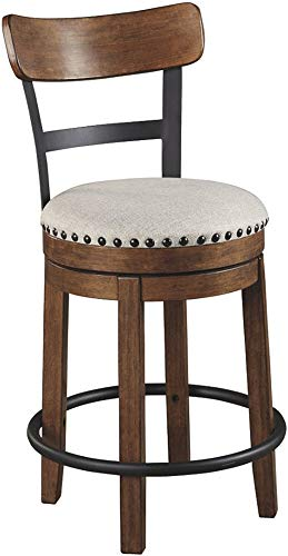 wood bar stools swivel - 4