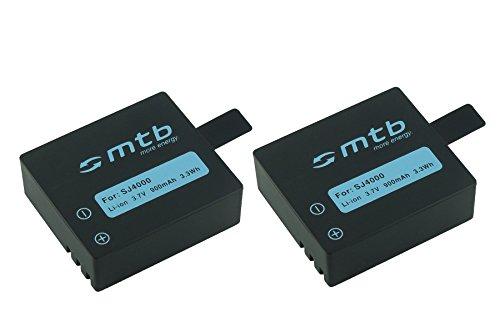 2X Akku für Qumox SJ5000(+), SJ5000X, SJ4000(+)… / SJCam M10(+), X1000 … / DBPower EX4000 … - s. Liste