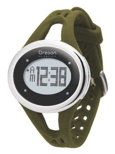 Oregon Scientific Damen Armbanduhr Herzfrequenzmesser Zone Trainer SE 338M, olivgrün, 5564