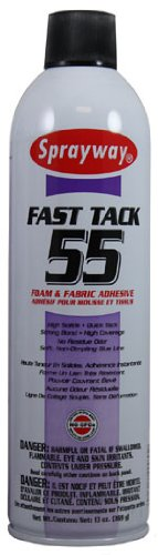 Sprayway SW055 Fast Tack Foam and Fabric Adhesive, 13 oz, 1 Pack