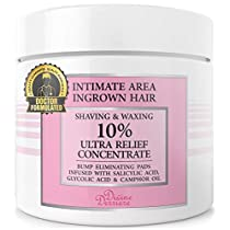 Divine Derriere Ingrown Hair Treatment Pads (Razor Bump Stopper) After Shave Solution to Eliminate Ingrown Hairs and Razor Burns - Ingrown Hair Treatment Pads for Men and Women