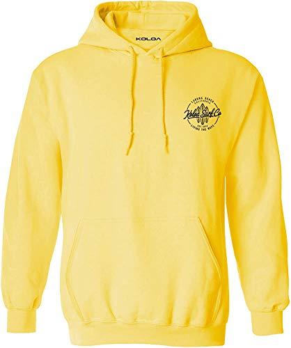 Koloa Surf Mens Laguna Boards Logo Pullover Hoodie-XL-Yellow/b