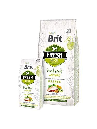 Brit 12kg Fresh Adult Duck & Millet, Run & Work, Hundefutter für aktive Hunde