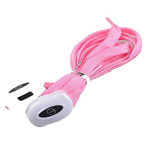 USB Que Carga El Cordón De Nylon Led Que Enciende La Cuerda del Zapato,Pink