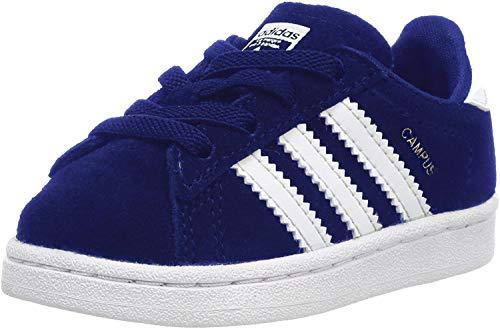 adidas Jungen Campus EL Sneaker, Blau (Dark Blue/Footwear White), 21 EU