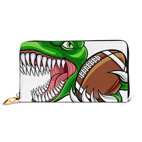 JHGFG Mode Handtasche Reißverschluss Brieftasche Dinosaurier T Rex Raptor American Football Telefon Kupplung Geldbörse Abendkupplung Blockieren Leder Brieftasche Multi Card Organisieren