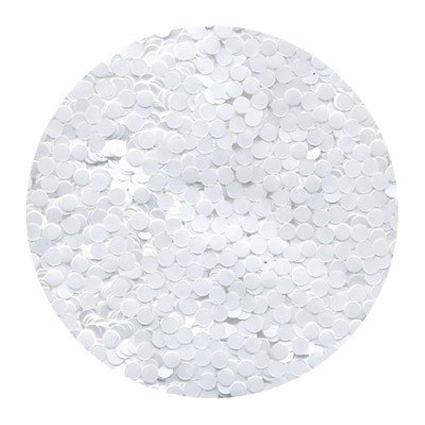 私たちのもの認可内部ピカエース ネイル用パウダー 丸カラー 2mm #421 ホワイト 0.5g