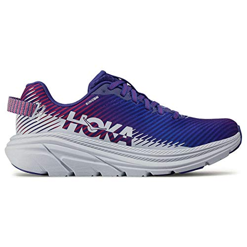 HOKA ONE ONE Women's Rincon 2 Road Running Shoe (Clematis Blue/Arctic Ice, Numeric_9)