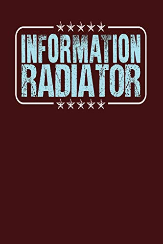 Information Radiator: Dark Red, Light Blue Design, Blank College Ruled Line Paper Journal Notebook for Project Managers and Their Families. (Agile and ... Book: Journal Diary For Writing and Notes)
