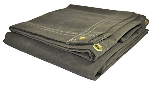 DRY TOP 60068 Canvas Tarp, 6′ X 8′, Olive Green Drab