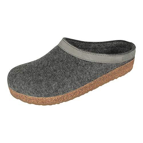 HaflingerTorben - Pantofole Donna, Grigio (Grau (4 anthrazit)), 39