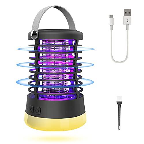 Sendowtek Lámpara Antimosquitos Eléctrico, Lámpara LED para Trampa con Mango Lámpara Portátil...
