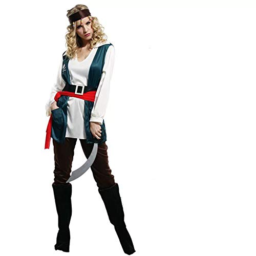 thematys Piratin Piratenkostüm für Damen - perfekt für Fasching, Karneval & Halloween - Einheitsgröße 160-180cm