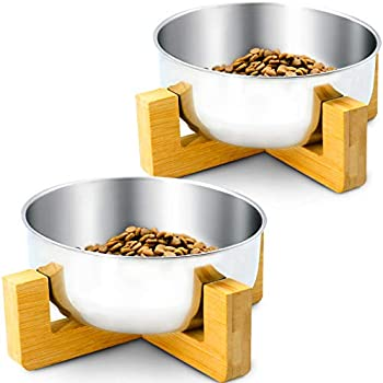 2-Pack Three Capreolus Stainless Steel Food and Water Feeding Bowls