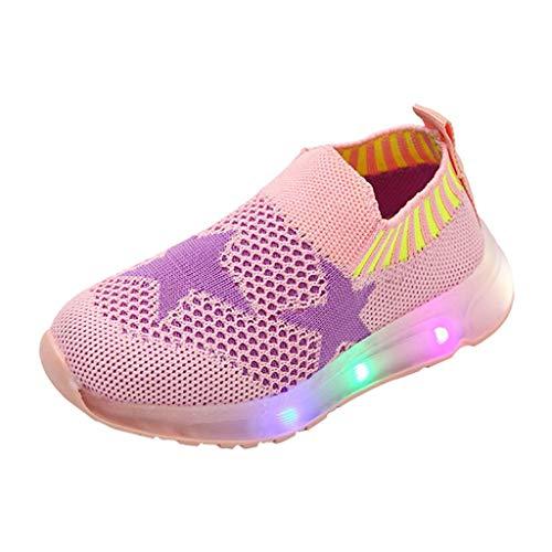 Kinder LED Schuhe Mädchen Jungen, Licht Atmungsaktives Mesh Blinkende Leuchtend Turnschuhe Blinkschuhe Sportschuhe, Outdoor Schuhe Für Jungen Mädchen, 1-6 Jahre