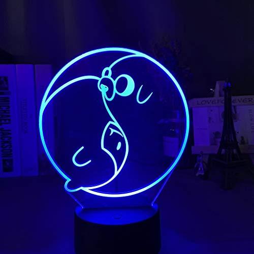 Finn The Human Jake The Dog 3d Illusion Led Night Light para decoración del hogar Regalo creativo para niños Niño Lámpara 3d Adventure Time Gift