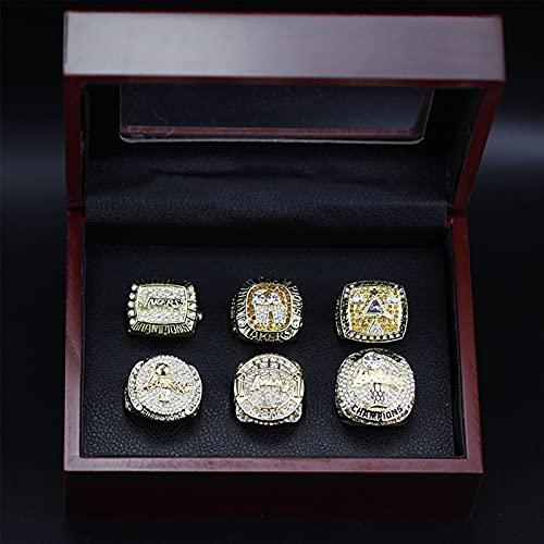 NBA Los Angeles Lakers Championship Ring 6Pcs Kobe Bean Bryant Memorial Ring Lebron James 23 3D Diamond Bling Rings