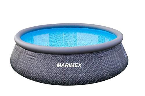 Marimex Tampa Ratan Swimmingpool, Aufblasbarer Pool für Garten ohne Zubehör, rund, 3,66 x 0,91 m