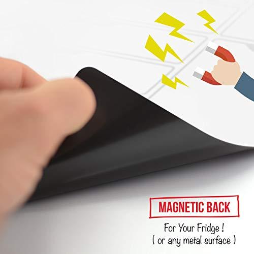 Tablero magnético blanco para nevera, planificador semanal ...