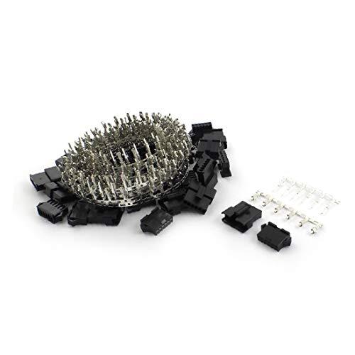 X-DREE 20Sets 2.5mm Pitch Hochleistung schwarzer Kunststoff 6-Pin JST-SM-Serie wesentlich Gehäuse Crimp-Anschlussbuchse(f61-a1-c3-74f)