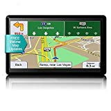GPS Navigation for Car Truck 7 inch HD Screen GPS Navigator System with Latest Free Lifetime Maps, Voice Broadcast Function and Speed Camera Warning,Driving Alert (Black-A)