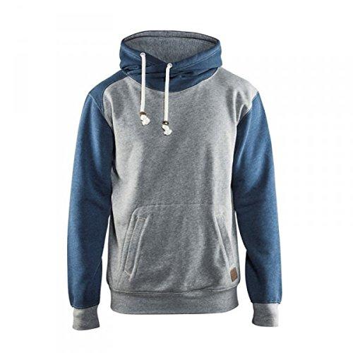 Blakläder Kapuzen-Pullover, 1 Stück, XXL, melange-grau / blau, 339911579087XXL