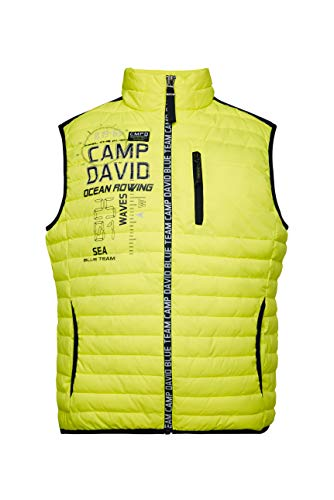 Camp David Herren Nylonweste mit Logozipper und Artwork