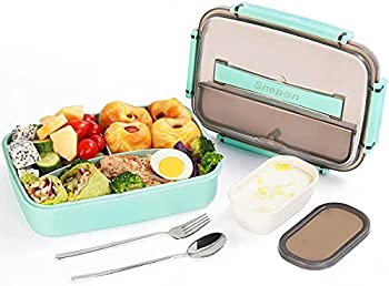 Snepon 1800ml Leak-proof 3 Compartment Bento Lunch Box
