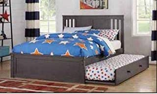 Donco Kids Princeton Trundle Bed, Full/Twin Slate Grey