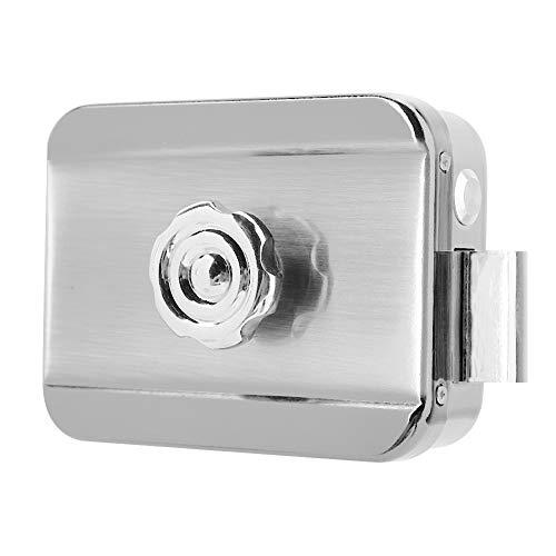 Guoshiy Cerradura electrónica con Control Remoto, Cerradura electromagnética, Cerradura antirrobo de Seguridad inalámbrica electrónica con 4 Llaves remotas para Seguridad en el hogar antirrobo