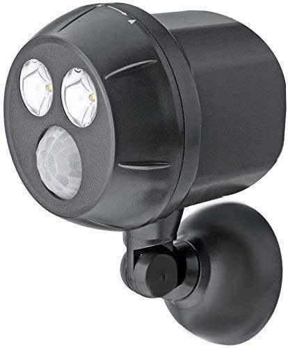Proxinova Outdoor Sensor Light Weatherproof Bright Wireless Cordless Motion Sensor LED Porch light/ Spotlight - Auto ON/OFF, Battery Powered Security Light IP65 Waterproof (Black)
