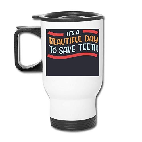 Cotizaciones dentales para un dentista Vaso republicano - Vaso con doble aislamiento - Taza de café de 30 onzas para automóvil, viajes, trabajo