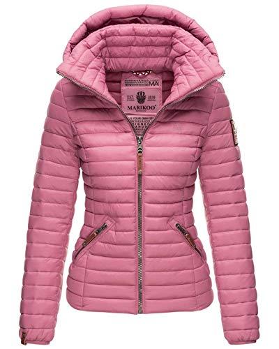 Marikoo Damen Jacke Steppjacke Übergangsjacke gesteppt B839 [B839-Löwe-Altrosa-Gr.S]