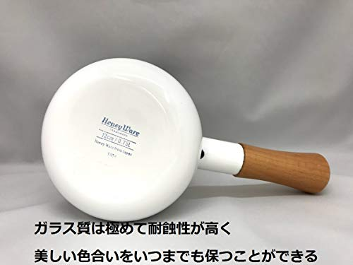 富士ホーロー片手鍋ミルクパンソリッド12cmスモークブルーSD-12M・SB