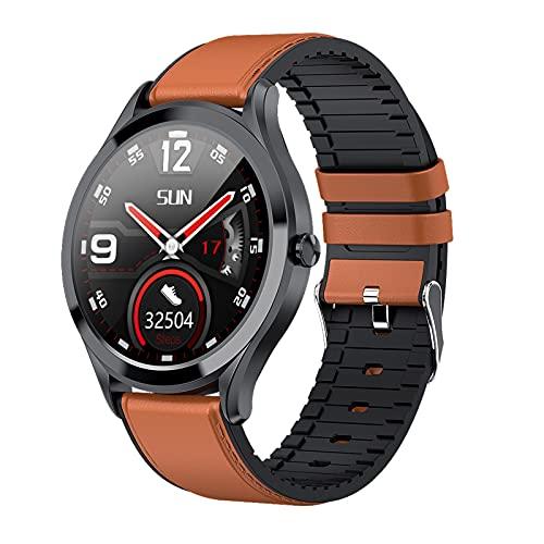 BNMY Smartwatch Pantalla De 1,3 Pulgadas Reloj Inteligente Impermeable IP67 con Pulsómetros para Mujer Hombre, Pulsera De Actividad Inteligente con Monitor De Sueño Contador De Caloría Cronógrafo,E