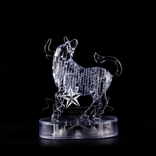 NYWENY 3D-Kristall-Puzzle, zwölf Sternbilder, geistige Entwicklung, Kristall-Puzzle