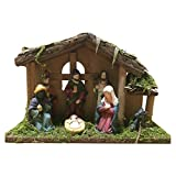 primrosely Adorno de Navidad para belén de mesa, escenas de nacimiento de Jesús, adorno religioso para decoración del hogar, Belén tradicional, artesanías de resina, 24816 cm