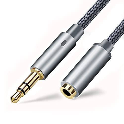 KU Syang Cable para Auriculares, Cable de ExtensióN para Auriculares Cable de Audio EstéReo de 3,5 Mm Macho a Hembra Sin PéRdidas