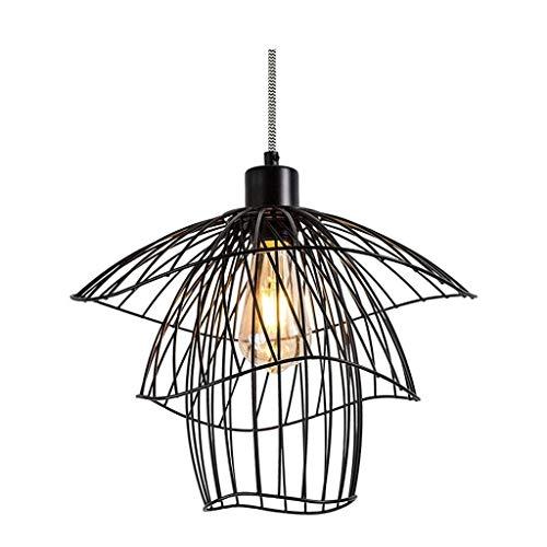 CHNOI Araña de Luces -Industrial Pendiente de la Vendimia Retro luz de Techo Lámparas Industria geométrico Jaula de Metal for Colgar Pantalla