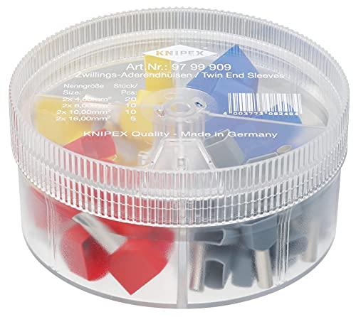 KNIPEX Sortimentslådor med twin-ändhylsor 97 99 909