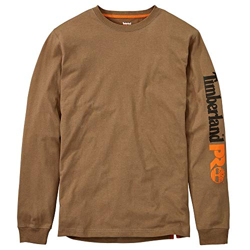 Timberland PRO Men's A1HRV Base Plate Long Sleeve T-Shirt with Logo - Large - Dark Wheat