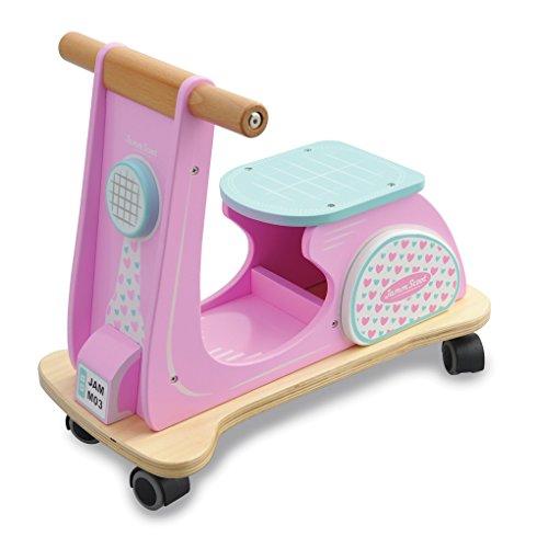Indigo Jamm Houten Jamm Scoot, Speelgoed Ride-On Scooter met Retro Klassiek Ontwerp voor Kinderen 12 Maanden Plus – Roze Racer
