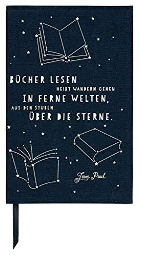 moses. Buchumschlag mit Lesebändchen | libri-x Buchhülle aus Baumwolle | Umschlag für die Lektüre | Über die Sterne | Größe S