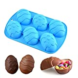 Easter Egg Mold – Egg Silicone Chocolate Mold- Large Easter Egg for Cocoa Bombs & Breakable Egg Chocolate Shells- fill with Peeps, Candy, Cake & Marshmallows- Large 3.5 in, Includes Cocoa Bomb Recipe